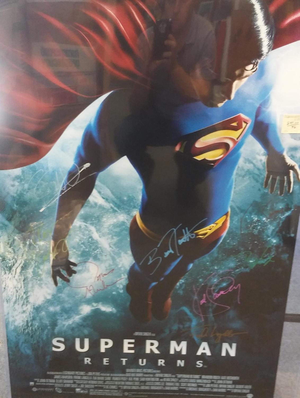 FULL SIZE WARNER BROTHERS MOVIE POSTER 'SUPERMAN RETURNS', *SIGNED* BY CAST (ORIGINAL POSTER), Singer, Bryan