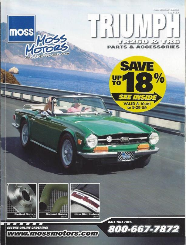 Moss Motors Magazine: Triumph TR250 & TR6 (Fall/Winter, 2009), n/a
