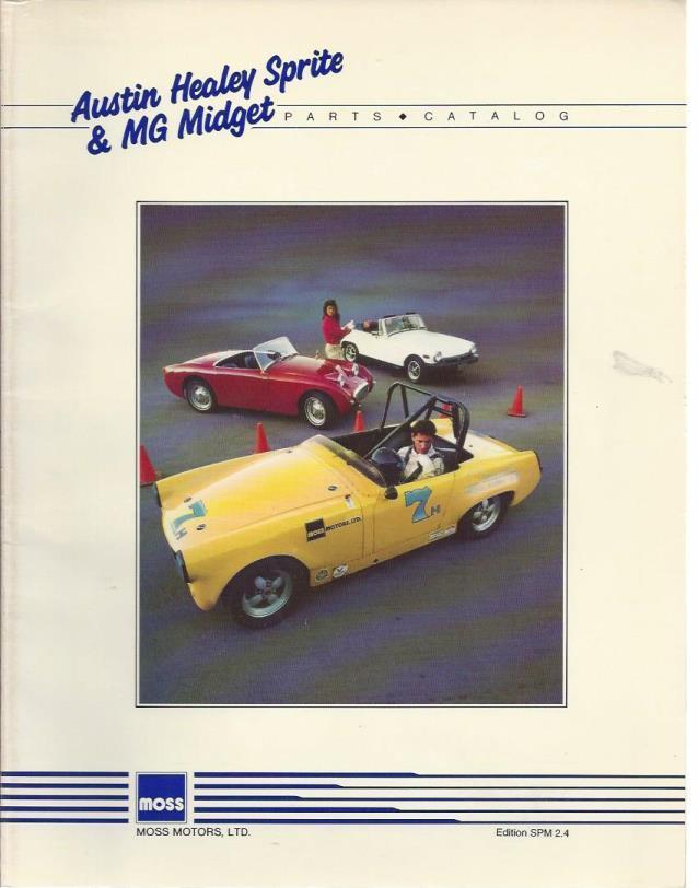 Austin Healy Sprite & MG Midge Parts Catalog, n/a