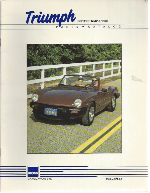 Triumph Spitfire MkIV & 1500 Parts Catalog (Edition SPT-1.0), Moss