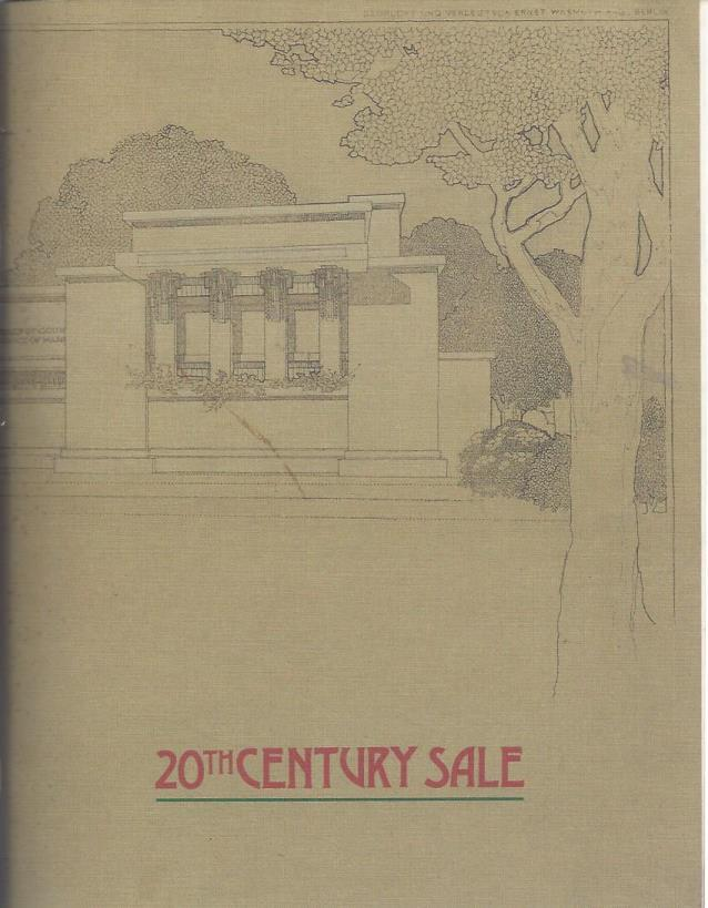 20th Century Sale, May 3 1992: Arts and Crafts, American and European Decorative Arts (Auction Catalog), Don Treadway Gallery; John Toomey