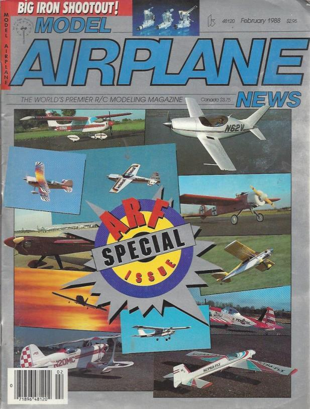 Model Airplane News (lot of 5 issues from 1988), Model Airplane News