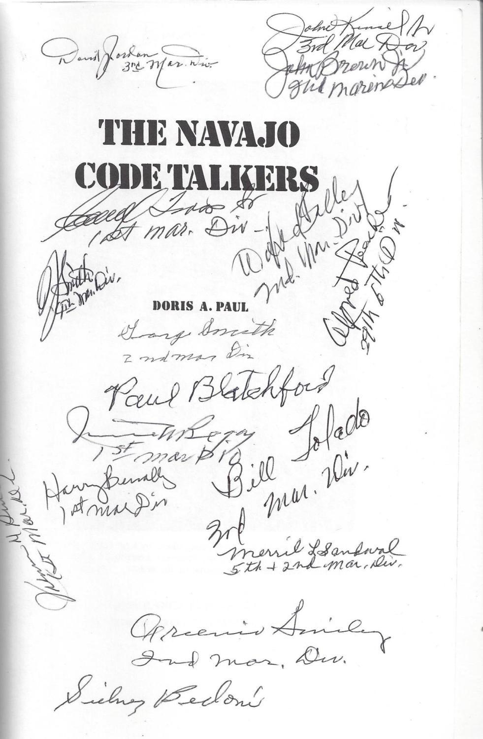 The Navajo Code Talkers (25th Anniversary Edition), Paul, Doris A.