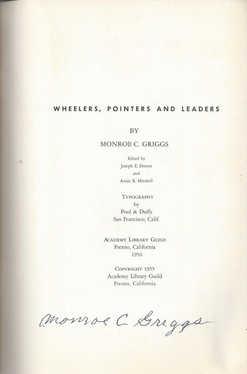Wheelers, pointers, and leaders, Griggs, Monroe Christopher