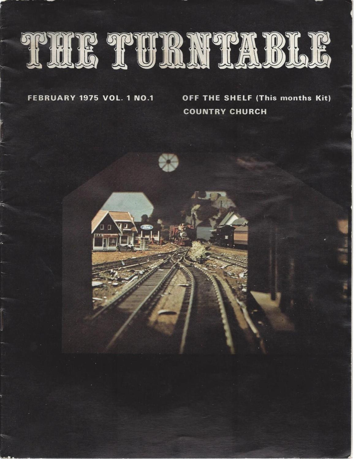 The Turntable: February, 1975 (vol.1, no.1), Timberline Publishing