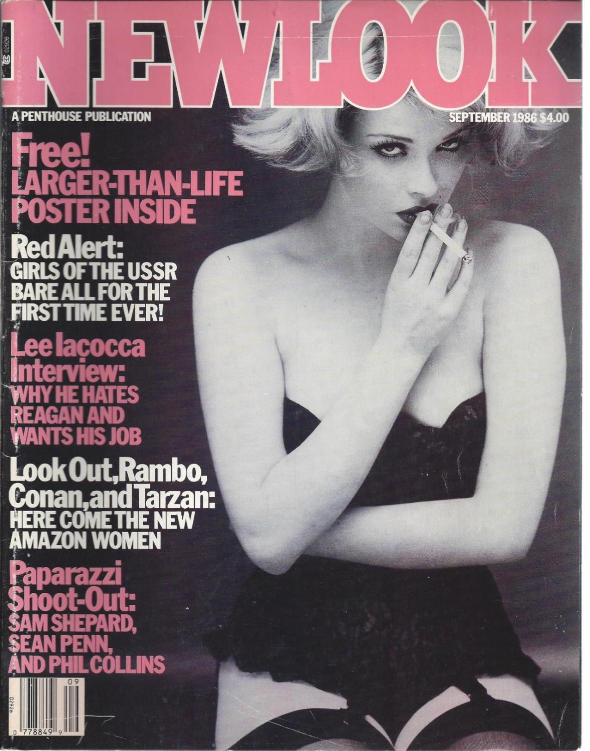 Newlook September 1986 Lee Iacocca Interview, Sam Shepard Sean Penn Phil Collins, Newlook International