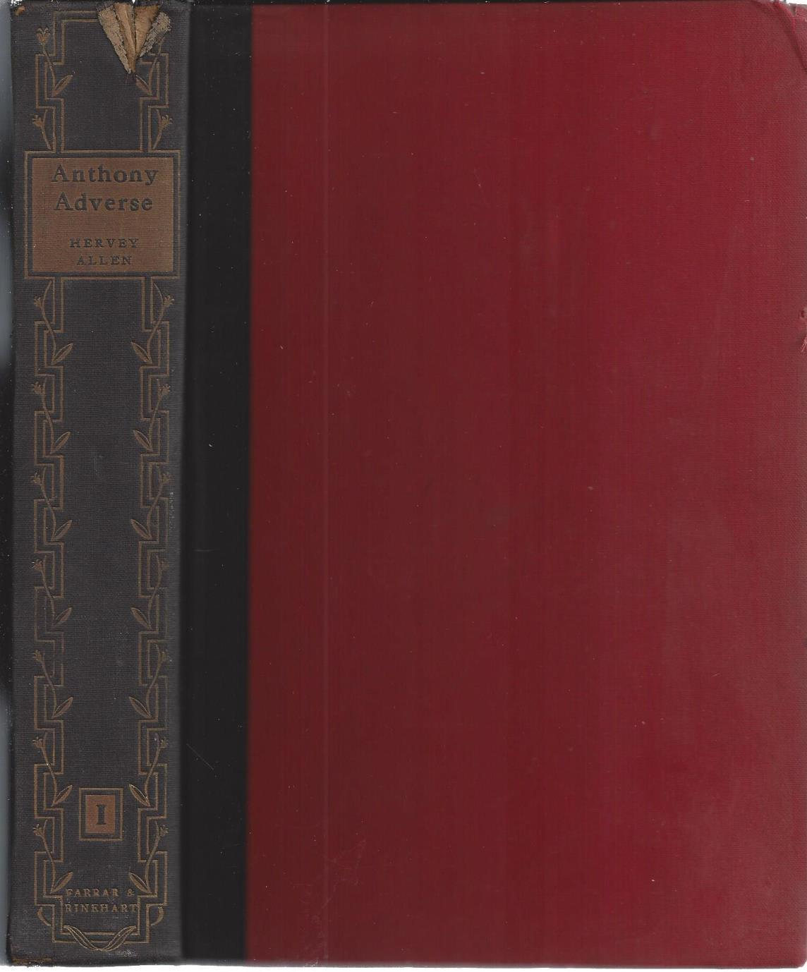 Anthony Adverse (TWO VOLUME SET), Allen, Hervey