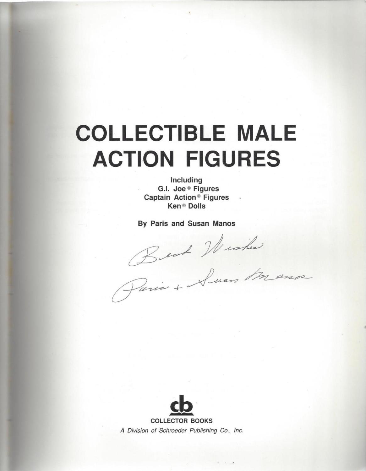 Collectible Male Action Figures: Including G.I. Joe Figures, Captain Action Figures, Ken Dolls, Manos, Paris; Manos, Susan