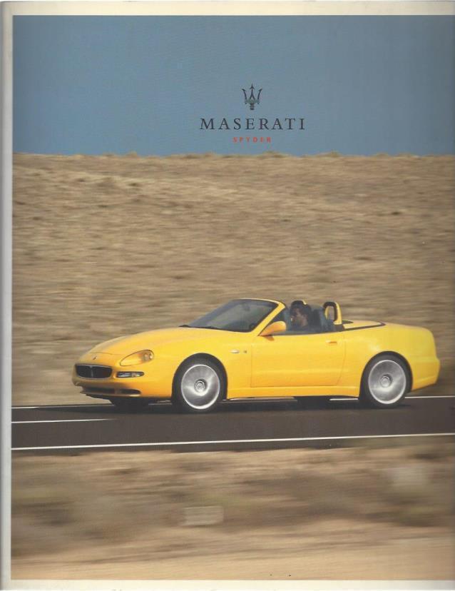"Maserati ""Spyder"" Brochure, Maserati"