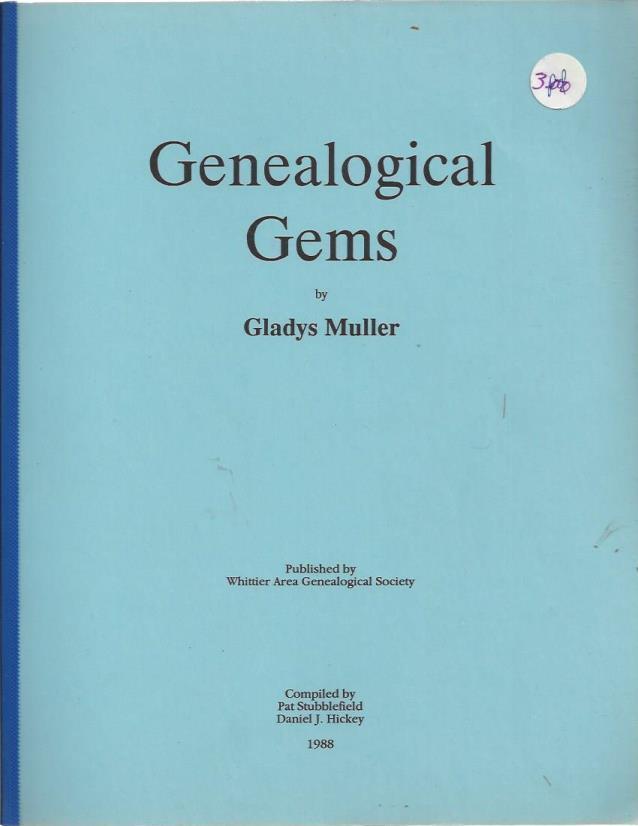 Genealogical gems, Muller, Gladys