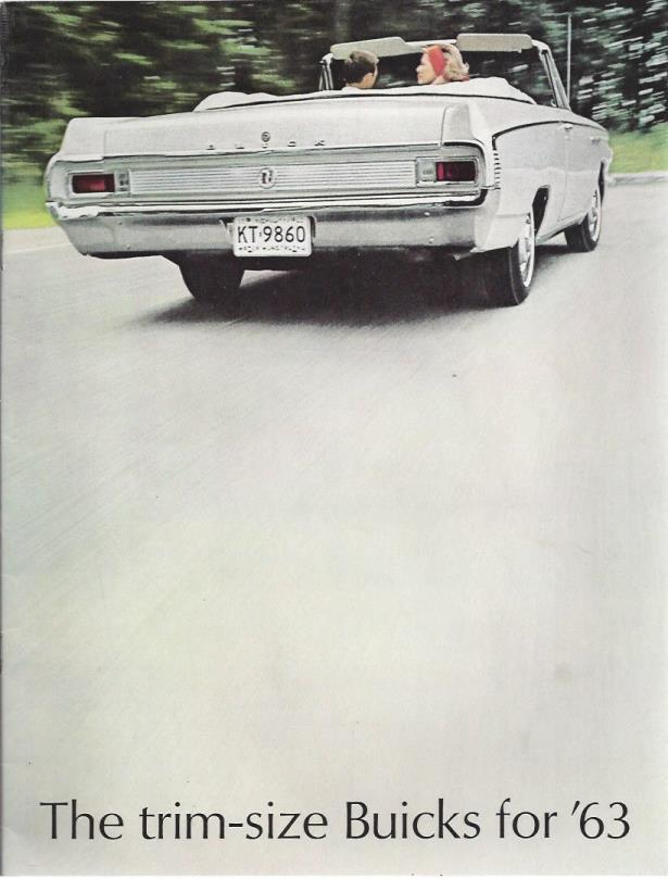 The trim-size Buicks for '63 (1963 Buick Brochure), Buick
