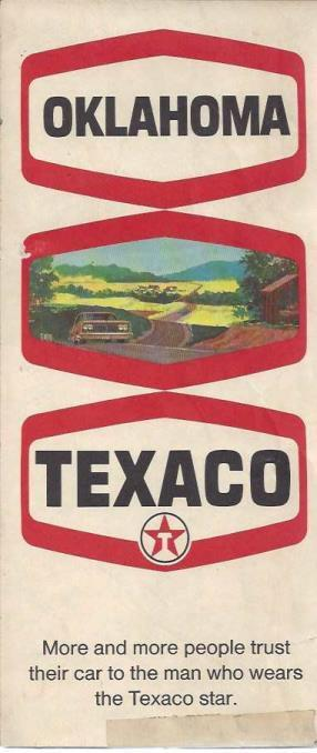 Texaco Oklahoma Road Map