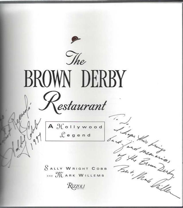 Brown Derby Restaurant, Cobb, Sally Wright