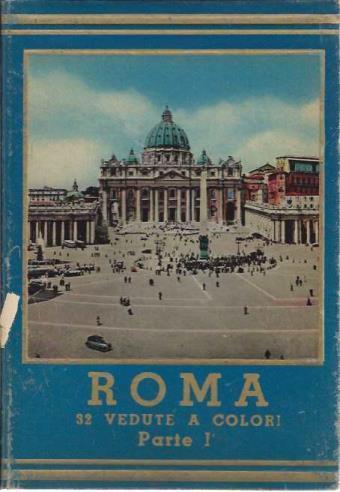 Roma, 32 Vedute a Colori, Parte I (Hardbound Collection of Color Postcards)