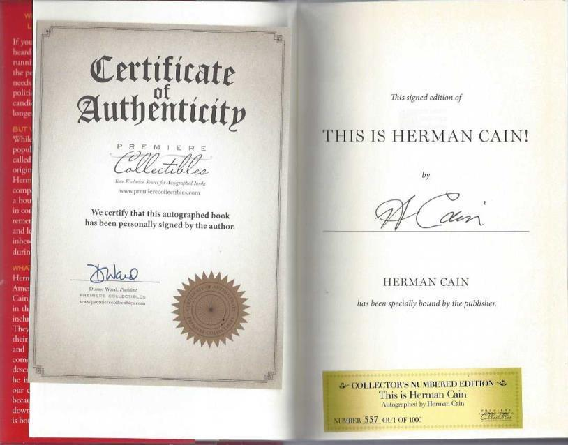 This Is Herman Cain!: My Journey to the White House, Cain, Herman
