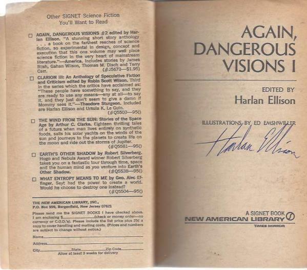 Again, Dangerous Visions 1 (One I), Harlan Ellison [Editor]