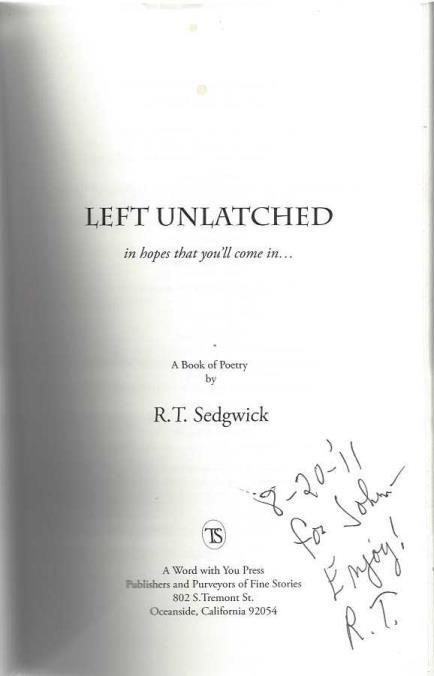 Left Unlatched, Sedgwick, Robert T.