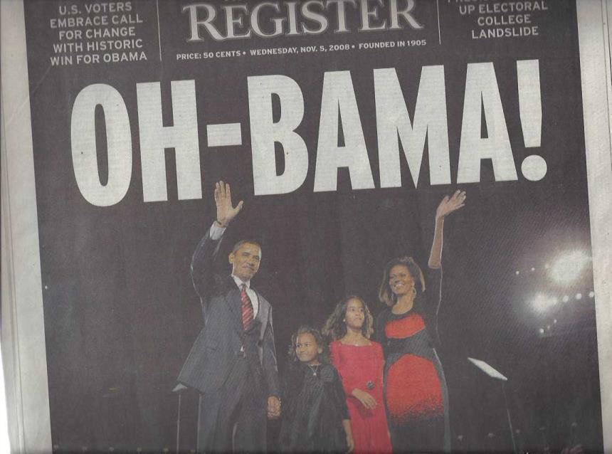 Collection of 12 Newspapers Concerning the Election and Early Years of Barack Obama