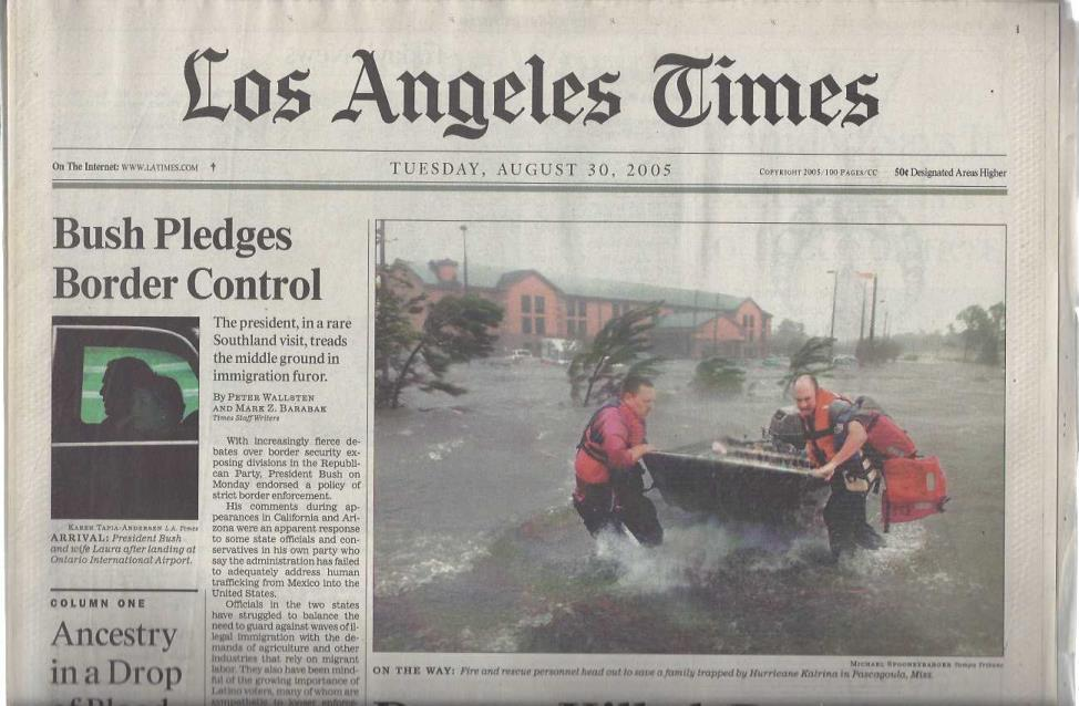 Collection of 13 Newspapers Covering Hurricane Katrina in 2005