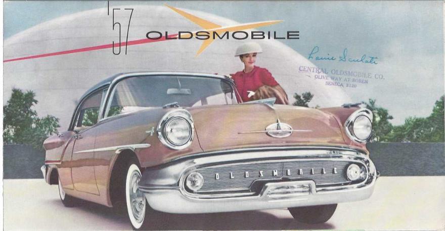 1957 Oldsmobile Full Line Foldout Sales Brochure 57 Super 88 Starfire, Oldsmobile; Oldsmobile [Contributor]