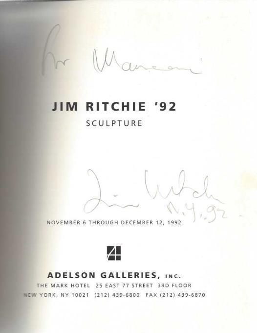 Jim Ritchie '92: Sculpture, November 6 through December 12, 1992, Jim Ritchie