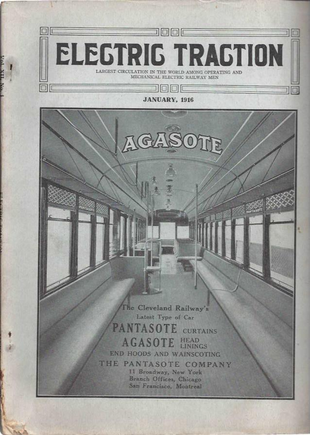 Electric Traction Magazine: Largest Circulation in the World Among Operating and Mechanical Electric Railway Men (January, 1916), Electric Traction; Electric Traction [Contributor]