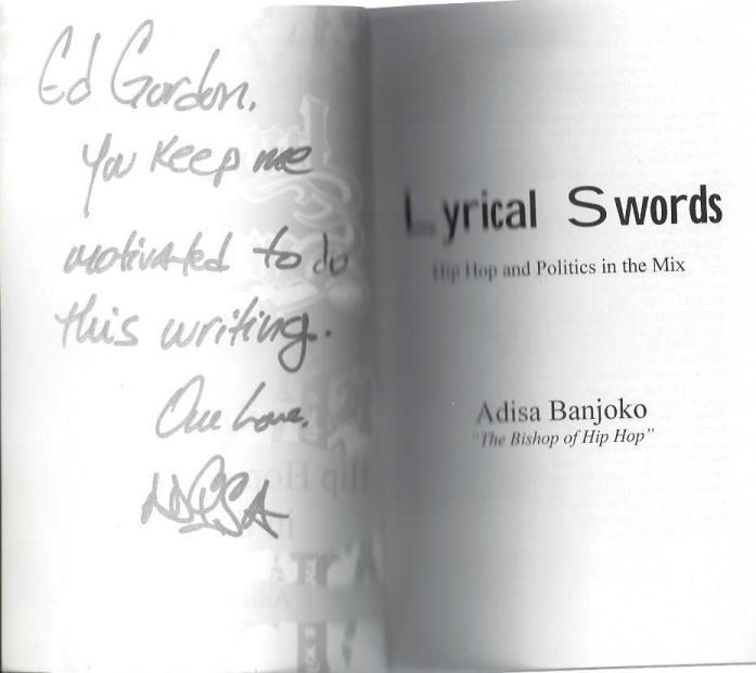 Lyrical Swords: Hip Hop and Politics in the Mix, Banjoko, Adisa
