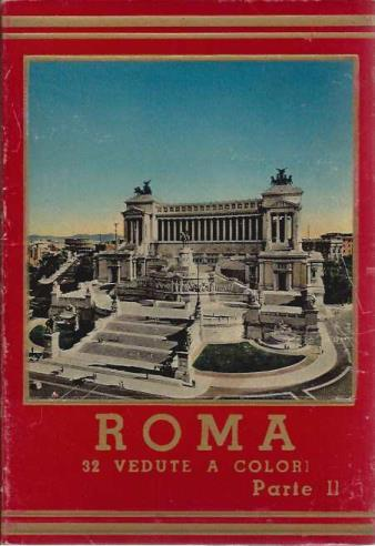 Roma, 32 Vedute a Colori, Parte II (Hardbound Collection of Color Postcards)