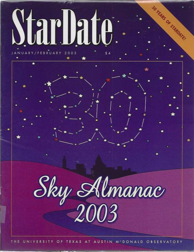 StarDate Magazine (Collection of 6 Magazines; FULL YEAR 2003), n/a