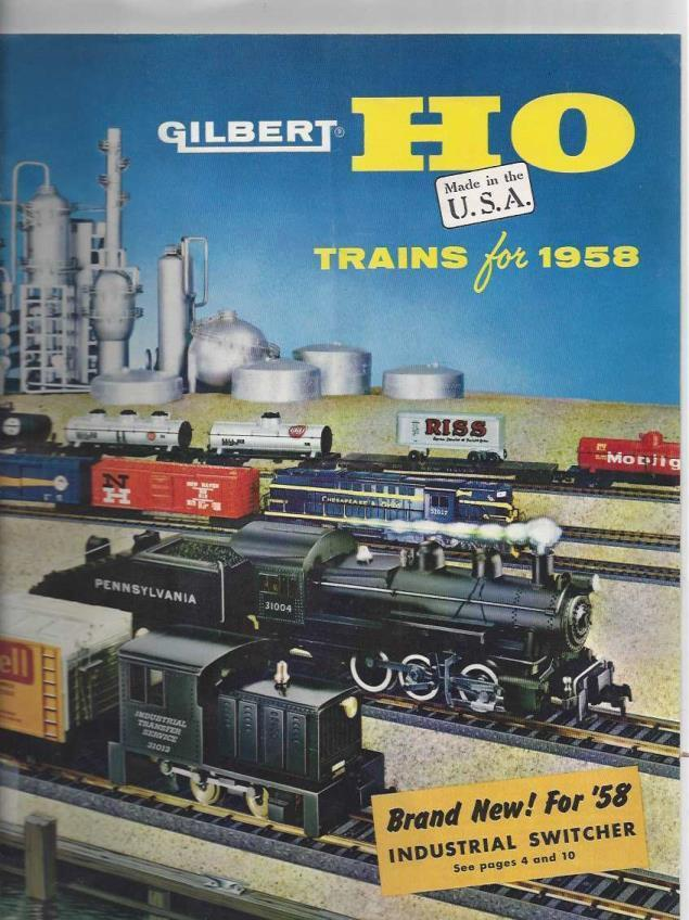Gilbert HO Trains for 1958 (Model Train Catalog), n/a
