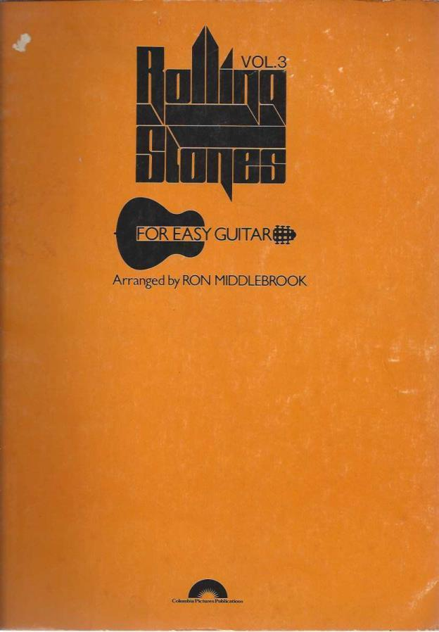 Rolling Stones For Easy Guitar Vol. 3, Ron Middlebrook (arranged by)