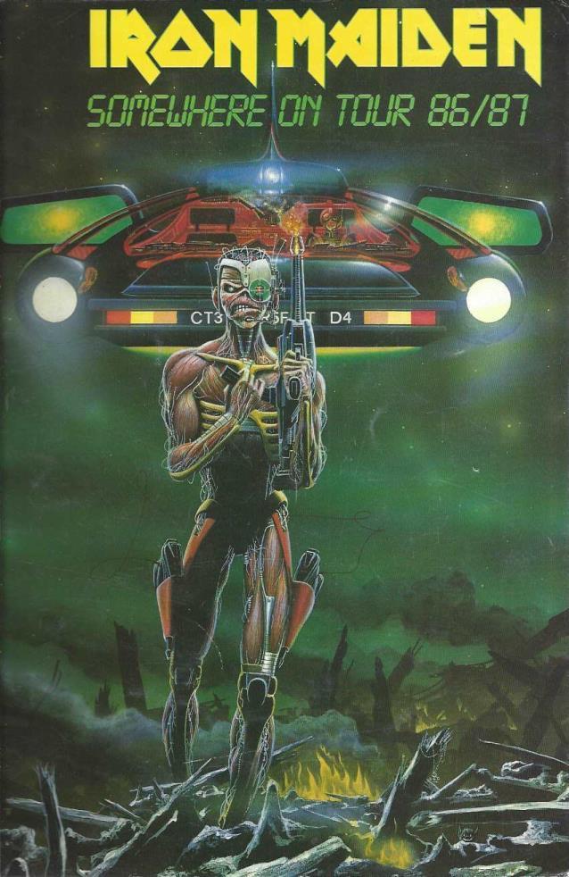 Iron Maiden 1986/1987 Somewhere on Tour Book, Derek Riggs [Illustrator]; Ross Halfin [Photographer]; Aaron
