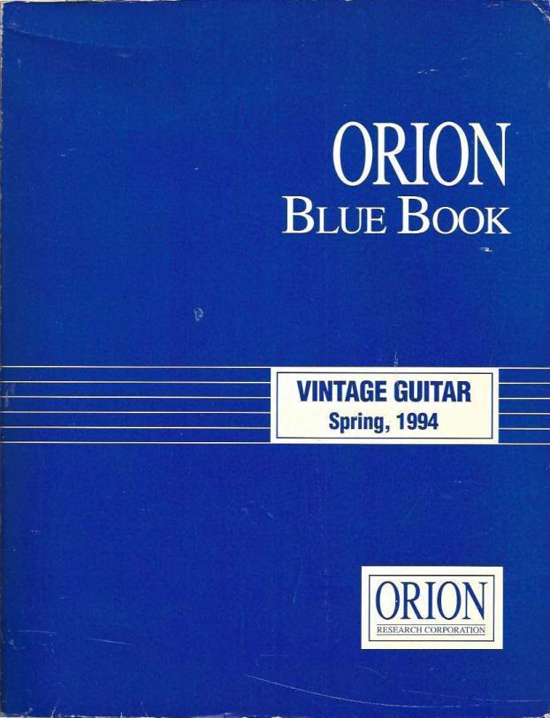 Vintage Guitar Blue Book, Winter 1994