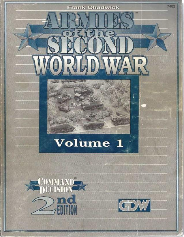 Armies of the Second World War, Vol 1 (Command Decision, 2nd Ed.)