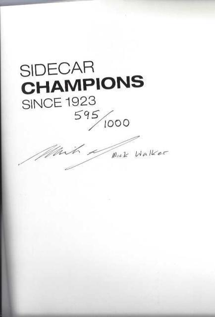Sidecar Champions Since 1923, Walker, Mick