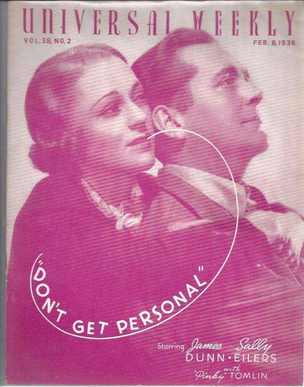 Universal weekly magazine: vol.38, no.2: 1936 Feb. 8, James Dunn and Sally Eilers