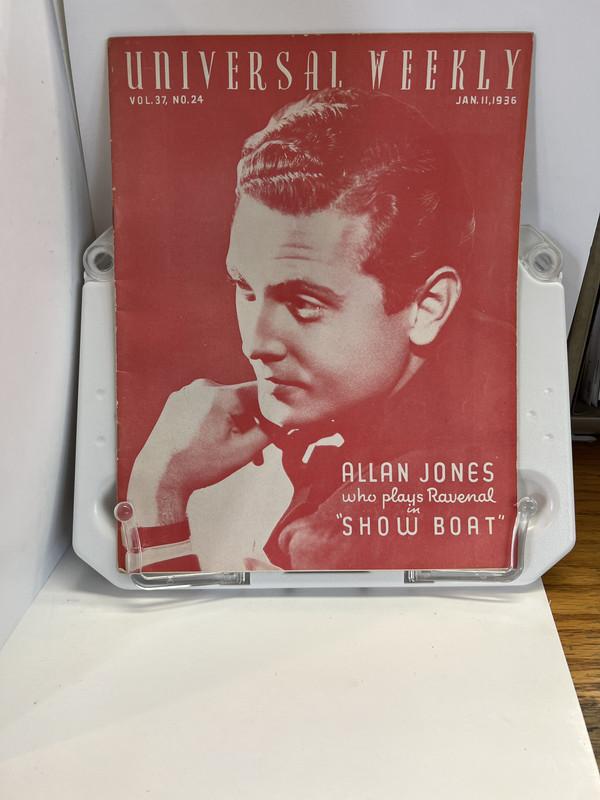 Universal weekly magazine: vol.37, no.24: 1936 Jan. 11. Allan Jones, Jewell, Aurelia M.