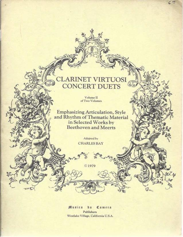 Clarinet Viruosi Concert Duets Volume II, Charles Bay