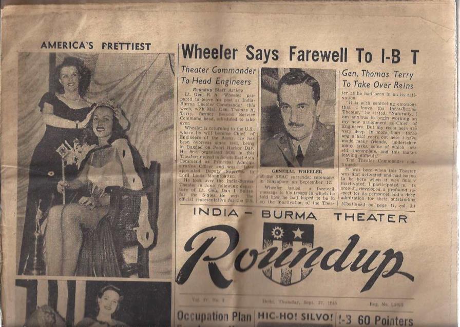 Roundup Newspaper Vol. !V. No. 3 Delhi, Thursday, Sept 27, 1945, N/A