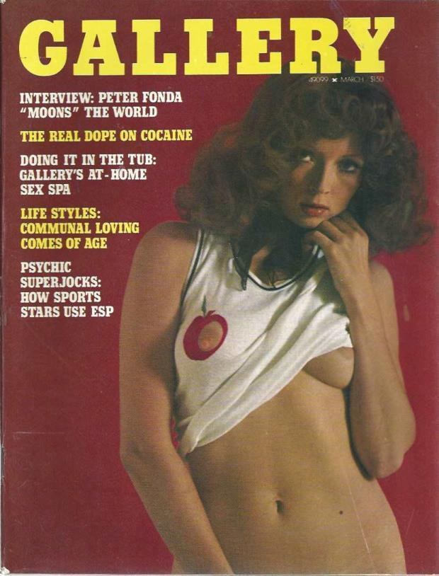 Gallery adult magazine March 1975 Interview Peter Fonda: Moons The World, Gallery