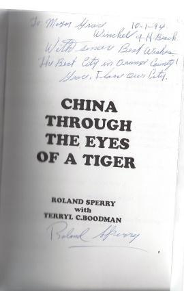 *Signed* China Through the Eyes of a Tiger