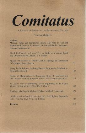 Comitatus: A Journal of Medieval and Renaissance Studies (Volume 42, 2011), Katherine McLoone [Editor]