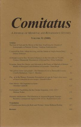 Comitatus: A Journal of Medieval and Renaissance Studies (Volume 31,2000), N/A; Courtney M. Booker [Editor]