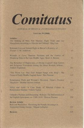 Comitatus: A Journal of Medieval and Renaissance Studies (Volume 39,2008), N/A; Erica L. Westhoff [Editor]