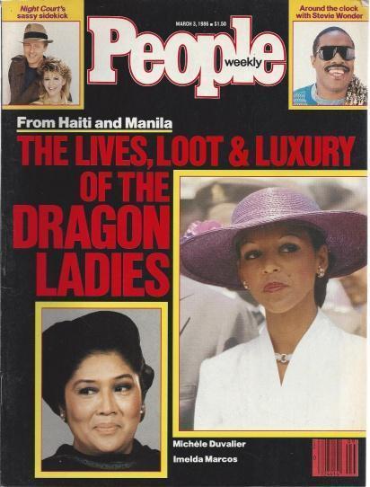 People Weekly (Dragon Ladies...Michele Duvalier , Imelda Marcos , From Haiti & Manila, March 3 , 1986), Stevie Wonder [Introduction]