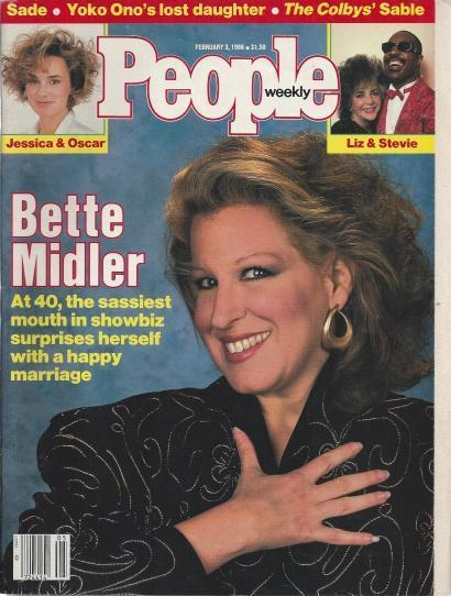 People Weekly (BETTE MIDLER , Jessica & Oscar , Liz & Stevie, February 3 , 1986), The Colbys' Sable [Introduction]