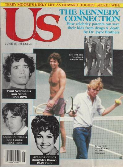 Us Magazine (The kennedy Connection , Bobby , David , RFK , Scott Newman , Louis Jourdan , Diane Linkletter, June 18 , 1984), Kennedy Family [Introduction]