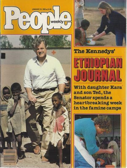 People Weekly Magazine January 28, 1985 (The Kennedys' Ethiopian Journal: Ted Kennedy cover; Howard Hughes; Matt Dillon's Delight), Henry Anatole Grunwald