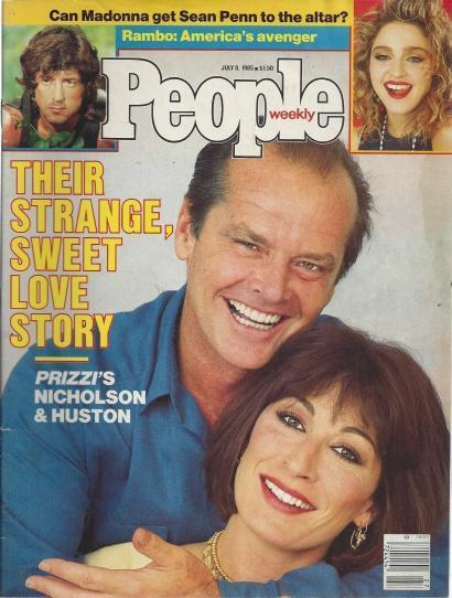 People Weekly Magazine July 8, 1985 (Jack Nicholson & Angelica Huston Sweet Love Story cover; Can Madonna Get Sean Penn to the alter?; Rambo: America's Avenger-Sylvester Stallone), Henry Anatole Grunwald (editor)
