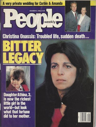 People Weekly (CHRISTINA ONASSIS...Troubles Life , Sudden Death...Bitter Legacy, December 5 , 1988), Corbin & Amanda [Introduction]